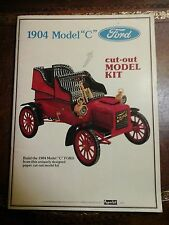 "Rare Collecters  Vintage 1904 Ford Model ""C"" Paper Cut-Out Model Car Kit Booklet"