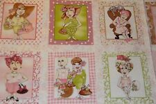 LORALIE On the Mend FABRIC PANEL 18 BLOCKS per panel Breast Cancer Fabric blocks