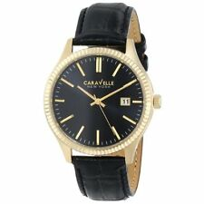 Caravelle New York Men's 44B106 Analog Display Japanese Quartz Black Watch