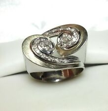 J5483 HEAVY 10g VINTAGE 18K GOLD DIAMOND RING SIZE 8