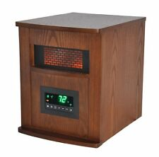 Lifesmart 1500W INFRARED Quartz HEATER, 6 Element Large Room SPACE HEATER, Brown