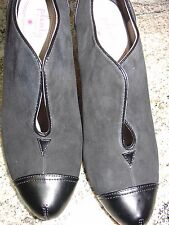 PLENTY BY TRACY REESE BLACK LEATHER HEEL PUMPS SHOES  sz 38 US 8