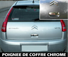 CITROEN C4 SEDAN COUPE 2004-10 CHROME TRUNK DOOR HANDLE COVER CAP TRIM ADHESIVE