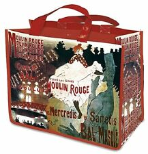 Red Moulin Rouge Shopping Bag, French Design, Large Strong and Reusable Bag