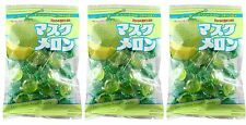3 BAGS Kasugai Musk Melon Hard Candy Cantaloupe 4.62 oz MuskMelon Japan