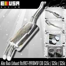 SS Alxe Back Exhaust fits 1987 1988 1989 1990 1991 BMW E30 325ic / 325ix / 325is