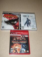 PS3 Video Games Lot Of 3 LOST PLANET GOD OF WAR 3 MORTAL KOMBAT KOMPLETE EDITION