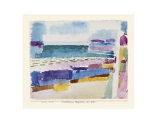Paul Trifoglio Bagno Spiaggia St Germain poster stampa d'arte immagine 34x42 cm disponibilità limitata