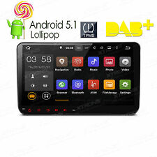 "9"" 2Din 4Core Android 5.1 Car GPS SatNav Radio DAB+ for VW Golf 5 6 Polo Passat"
