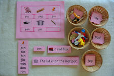 Montessori Pink Lanaguage Series Phonics Educational Kit