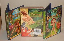 DVD Disney Tarzan 1 & 2 Das Abenteuer seiner ... 3 DVDs in Box  Neu in Folie OVP