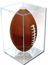 Case (4) Pro Mold Full Size Football Display Cases - UV - NFL Holder - FREE Ship