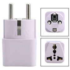 US AU UK to EU AC Power Universal Socket Plug Travel Charger Adapter Converter