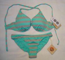 NWT Eidon Swimsuit Bikini 32D 34D 36D 38D Gemini Scoop bottoms Sz S Spearmint