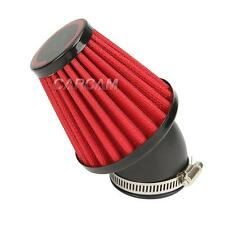 Red 35mm Air Intake Filter Pod 45 Degree Bend For Motorcycle Scooter ATV