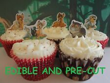 bambi X24 edible stand up cup cake toppers wafer paper *pre-cut*