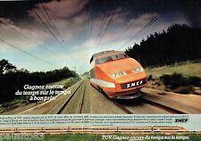 PUBLICITE ADVERTISING 106  1983  SNCF  (2) le train TGV