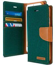 For iPhone 7 6 5 SE Plus Case Slim Denim Canvas Flip Cover Wallet leather Case