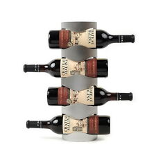 Excellent Houseware Metal Wall Mounted 4 Bottle Wine Holder Storage Rack R