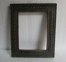 Vintage Old Hand Carved Wooden Embossed Painted Picture Photo Frame