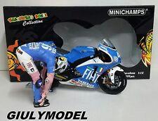 MINICHAMPS VALENTINO ROSSI 1/12 SET GP BARCELLONA 2008 MOTO + FIGURA L.EDITION