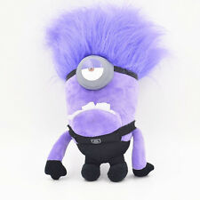 Despicable Me Evil ONE EYED 10'' Purple Minion Plush Toy Stuffed Doll Kids Gift
