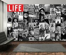 Creative Collage - 64 Piezas designer wallpaper-La Revista Life B&W (Inc Pegar)