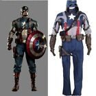 The Avengers Captain America Cosplay Costume Jacket Pants Set