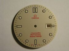 NOS Omega Seamaster 300m Cream & Red Full Size Dial - Very Rare Dial