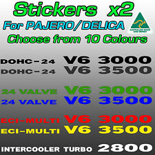 Mitsubishi Pajero / Delica 3000 3500 V6 and 2800 turbo stickers decals