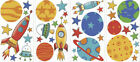 ROCKETS & PLANETS wall stickers 39 decals stars Universe decor outer space