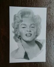 MARILYN MONROE FILM ART FASHION POSTCARD