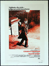 DEATH WISH 1974 FILM MOVIE POSTER PAGE . CHARLES BRONSON MICHAEL WINNER . V8