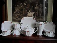 Shelley Queen Anne Red Daisy Tea Set c.1926