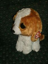 "Ty Boo 9"" COOKIE Dog  MWMT red tag (retired) RARE * Medium * glitter eyes"