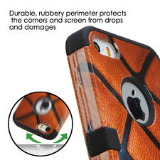 for iPhone 5 5s SE Basketball Sport Hard Soft Hybrid Rubber Protector Armor Case