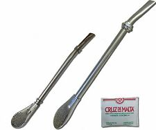 2 Stainless Steel Yerba Mate Bombilla Straws - One Small and One Large  Free S&H