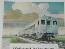 1950 Budd Mfg. Co. advertisement, RDC-1 Railcar, color painging