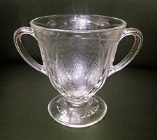 Royal Lace Crystal Depression Glass Creamer and Sugar Bowl