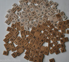 lot of 150 SCRABBLE Wood / Wooden TILES Craft / Tournament