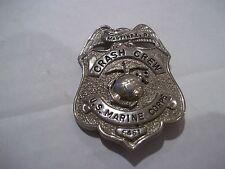 Vintage obsolete 1950s U.S. Marine Corps USMC Crash Crew badge R. Martinez