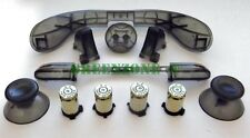 Custom Xbox 360 Controller ABXY Bullet Buttons Brass + Clear BLACK Mod kit