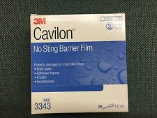 3M Cavilon No-sting Barrier Film Box of 25 Packaging 1ml Swab 3M SAS2349 (HC)...