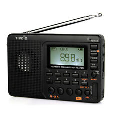 High Quality Portable FM/AM/SW Radio+mp3 player+REC Recorder w/ Track no