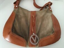 Valentino Garavani Shoulder Bag Suede Leather MIX Italy khaki color