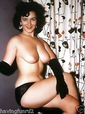 1960s Topless Pinup Posing in Long Black Gloves lace panties  8 x 10 Photograph