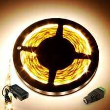 Warm White 5M 5630 SMD 300 LED Super Bright Flexible Light Strip+DC+12V 5A Power