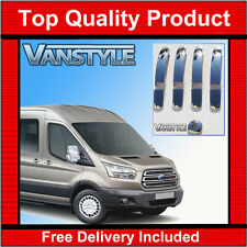 NEW FORD TRANSIT MK8 2014+  4 DOOR HANDLE COVER 2013+ SET STAINLESS STEEL CHROME