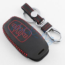 Leather Key Case Fob Holder Cover For Audi A4 Q5 A5 S5 A6 S6 A7 A8 Accessories