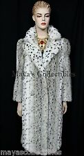 Vintage Glam Spotted Snow Faux Lynx Fur Coat Style VI New With Tags Sz 8